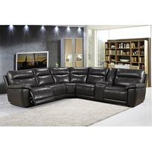 6 Piece Leather Sectional w/ Power