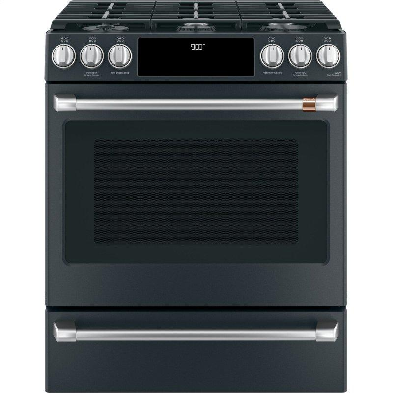 """30"""" Smart Slide-In, Front-Control, Dual-Fuel Range with Warming Drawer"""