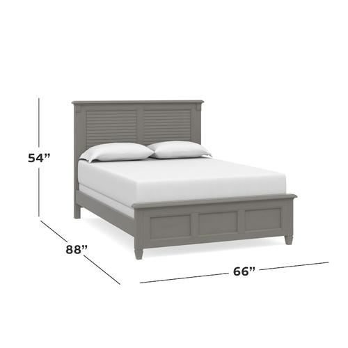 Shoreline Full Louvered Bed, Footboard Low, Storage None