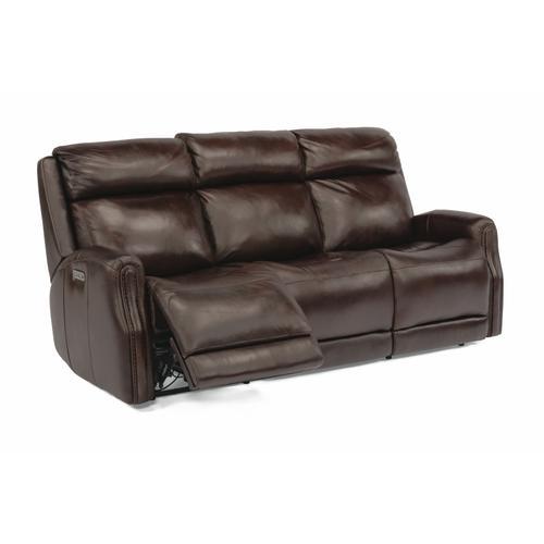 Flexsteel - Stanley Power Reclining Sofa with Power Headrests