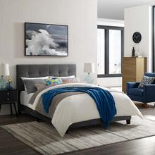 View Product - Amira Twin Performance Velvet Bed in Gray