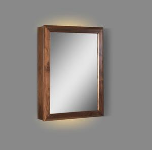 "M4 20"" LED Medicine Cabinet - right - Natural Walnut Product Image"