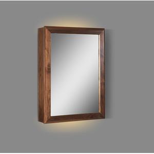 "M4 20"" LED Medicine Cabinet - right - Natural Walnut"