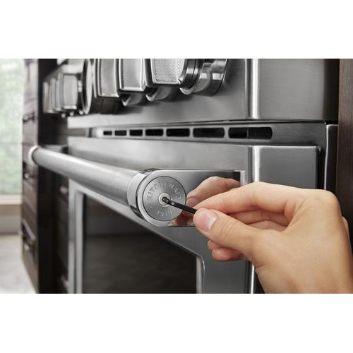 KitchenAid® Commercial-Style Range Handle Medallion Kit - Silver