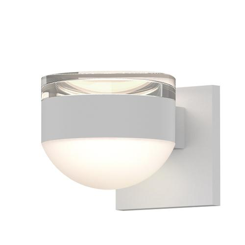 Sonneman - A Way of Light - REALS® Up/Down LED Sconce [Color/Finish=Textured White, Lens Type=Clear Cylinder Lens and Dome Lens]
