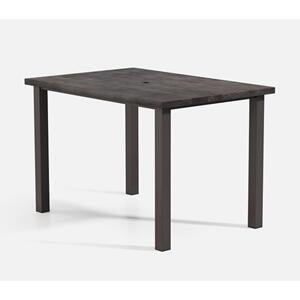 "42"" x 62"" Rectangular Bar Table (with Hole) Ht: 40"" Post Aluminum Base (Model # Includes Both Top & Base)"