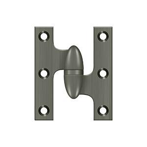 "Deltana - 2-1/2"" x 2"" Hinge - Antique Nickel"