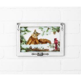 Woodland Christmas Window Plaque