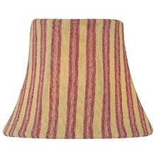"Candelabra Shade/woven Stripe Red - 3""tx5""bx4""sl"