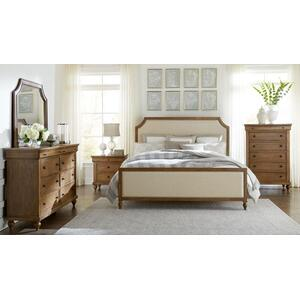 Brussels Queen Upholstered Bed, Brown