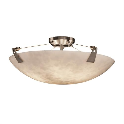 "24"" Semi-Flush Bowl w/ Tapered Clips"
