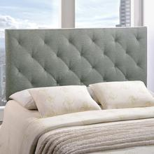 View Product - Theodore Queen Upholstered Fabric Headboard in Gray