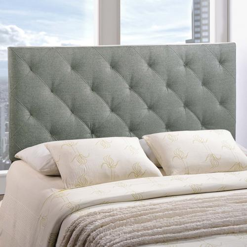 Modway - Theodore Queen Upholstered Fabric Headboard in Gray