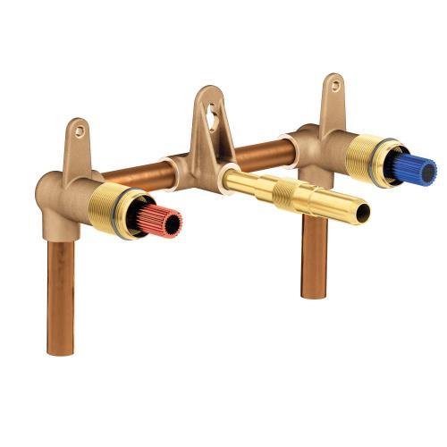 """Moen - Moen Wallmount valve 8"""" center 1/2"""" CC connection"""