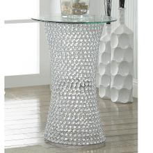 View Product - Crystal Pedestal Table W/led Lite