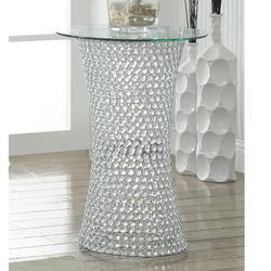 Crystal Pedestal Table W/led Lite