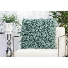 "Shag Dc105 Celadon 20"" X 20"" Throw Pillow"
