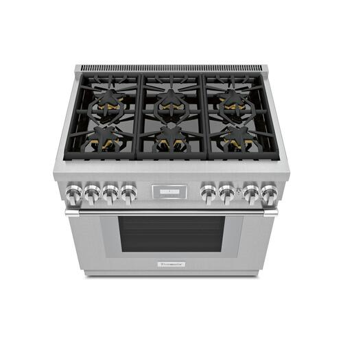 Gas Professional Range 36'' Pro Harmony® Standard Depth Stainless Steel PRG366WH