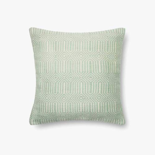 P0339 In/out Aqua / Ivory Pillow