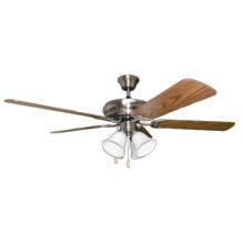4 Caliber - 52' 5-Blade Nk Fan W/White 4-Light Kit