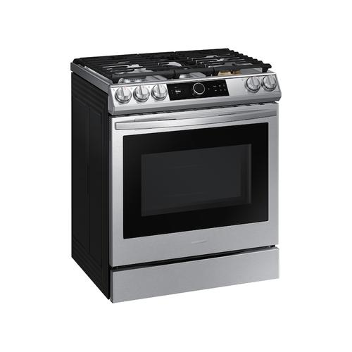 6.0 cu. ft. Front Control Slide-in Gas Range with Smart Dial, Air Fry & Wi-Fi in Stainless Steel