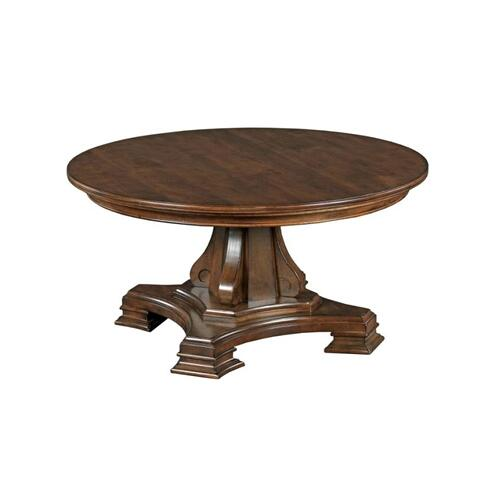 Portolone Round Pedestal Cocktail Table Complete