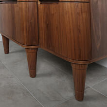"See Details - One piece turned wood leg for Eleganza vanities, 3 1/4""DIAM x 10""H"