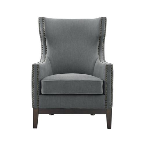 Roswell Wing Back Chair, Gray