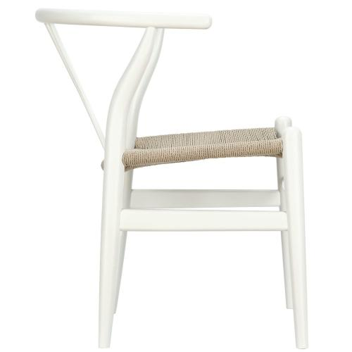 Amish Dining Wood Armchair in White