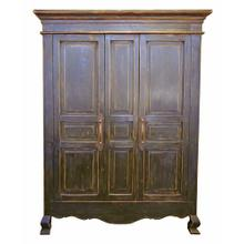 View Product - 2 Door Stone Brown Armoire