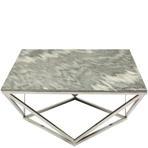 Square Coffee Table Top - Gray Marble Finish