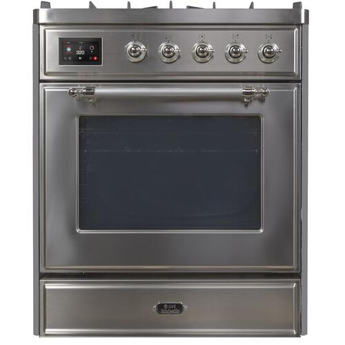 "30"" Inch Stainless Steel Natural Gas Freestanding Range"