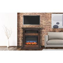 See Details - Cambridge Sienna 34 In. Electric Fireplace w/ Multi-Color LED Insert and Walnut Mantel, CAM3437-1WALLED