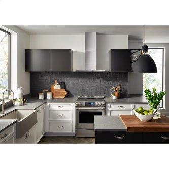 Broan™ 30-Inch Convertible Wall-Mount T-Style Chimney Range Hood, 450 MAX CFM, Stainless Steel