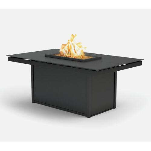 "36"" x 60"" Rectangular Chat Fire Pit Ht: 24.5"" Aurora Aluminum Base (Indicate Top & Frame Color)"