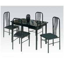 Black 5pc Dining Set