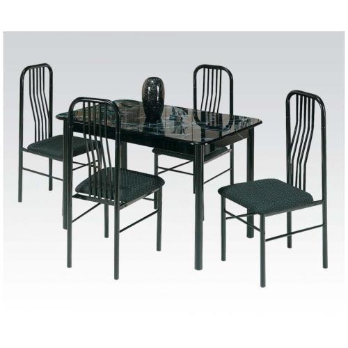 Acme Furniture Inc - Black 5pc Dining Set