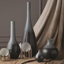 Eggshell Vase-Grey/Blue-Lg