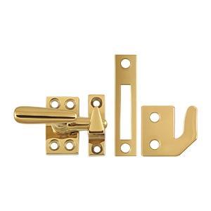 Deltana - Window Lock, Casement Fastener, Small - PVD Polished Brass
