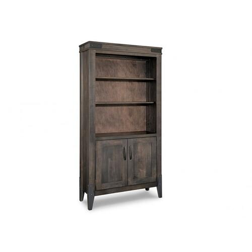 Handstone - Chattanooga Bookcase w/3 Adjustable Shelves w/Doors