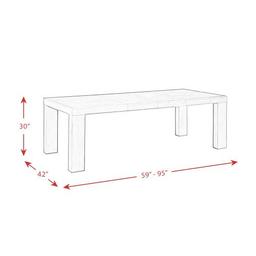 Elements - Grady Rectangle Dining Table Black