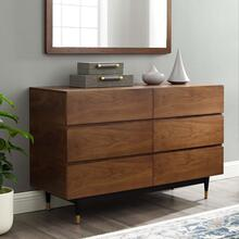Caima 6-Drawer Dresser in Walnut
