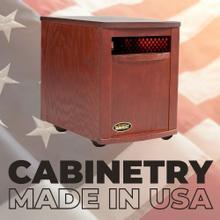 View Product - Original SUNHEAT USA1500 Infrared Heater - Mahogany