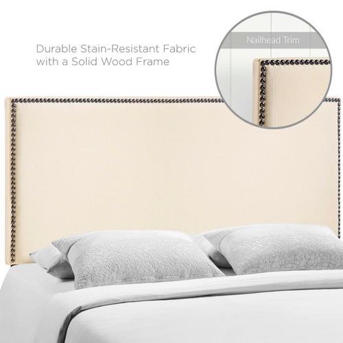 Modway - Region Nailhead Queen Upholstered Headboard in Ivory