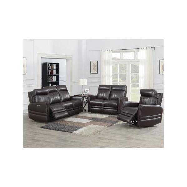 Coachella 3 Piece Dual Power Leather Motion Set(Sofa, Loveseat & Chair)