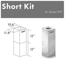 "See Details - ZLINE 2-12"" Short Chimney Pieces for 7.8 ft. to 8 ft. Ceilings (SK-597i)"