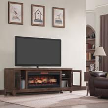 "Berkeley TV Stand for TVs up to 80"", Spanish Gray (Electric Fireplace Insert sold separately)"