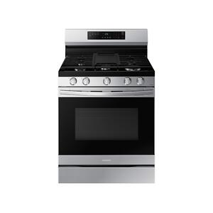 6.0 cu. ft. Smart Freestanding Gas Range with No-Preheat Air Fry & Convection in Stainless Steel Product Image