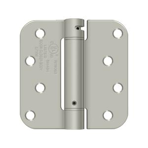 "4"" x 4"" x 5/8"" Spring Hinge, UL Listed - Brushed Nickel"