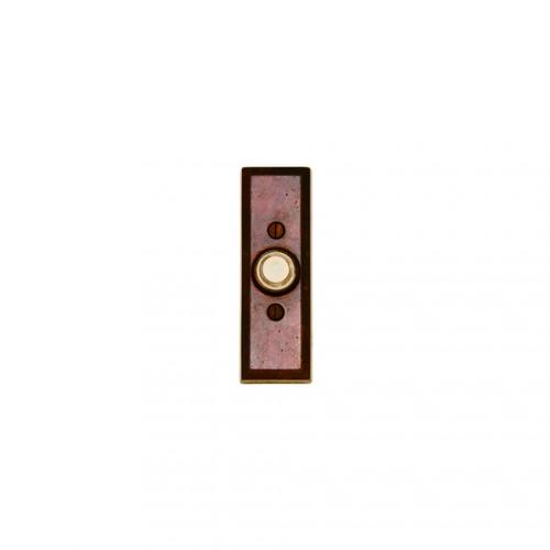 Rectangular Doorbell Button Silicon Bronze Brushed